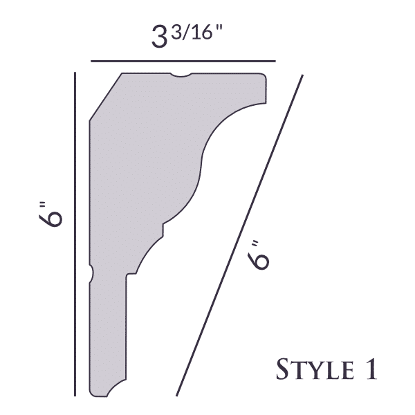 New! Style 1 | 6"