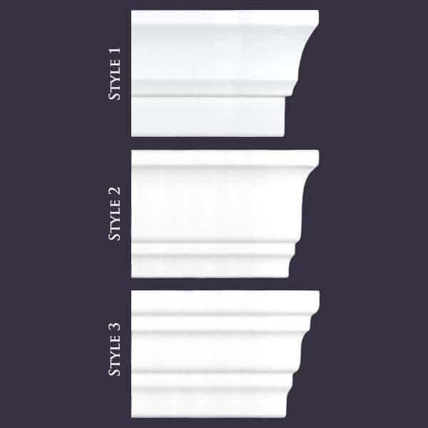 Mix Samples | Flat Back Styles 1,2,3 | Foam Crown Molding