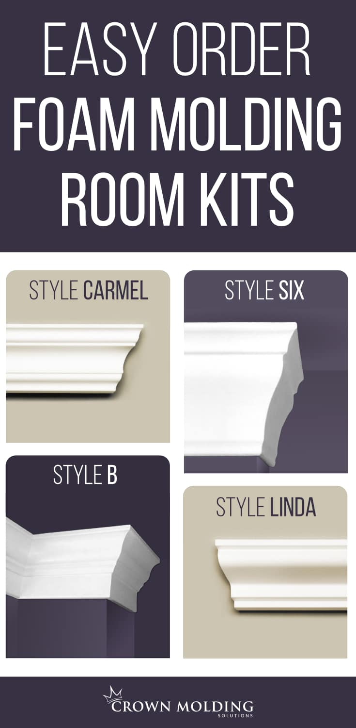 Foam Crown Molding Room Kits
